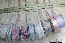 PINK & BLUE Mix Assorted 10-14 mm Wide - 2, 3 & 5 Metres - 8 Design Style Choice