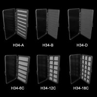Aventik Transparent Fly Fishing Box Foam A,B,D Magnetic Pad Compartment Hook Box