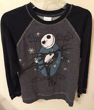 Jack Skellington Sweatshirt Nightmare Before Christmas Black Gray Disney Kids 14