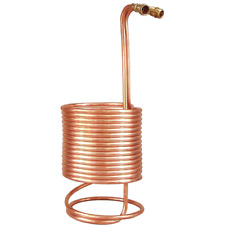 Wort Chiller - for 10 gallon batches (50ft of 1/2 in. With Brass Fiittings)