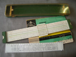 Faber Castell Slide Rule 2/83 Novo-Duplex with Case and Instructions