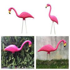 2 Pcs Realistica Fenicottero Flamingo Statue Prati Animali Giardino
