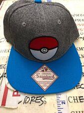 Nintendo Pokeman Pokeball Tattered Bill Adjustable Blue Baseball Cap Dad Hat