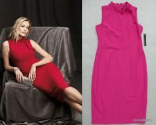 NWT MAGGY LONDON Bow Neck Detail Sheath Dress Size 12 in Orchid Pink