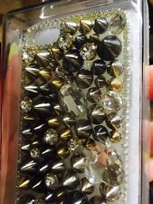 Brand New Iphone 5 Clear Bullet Spikes Bling Case