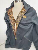 Vintage Men's NIKE Zip LEBRON JAMES Track Jacket M BLACK W/ Orange L23 Logo