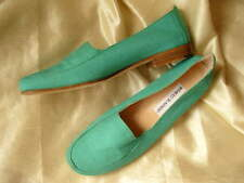 VINTAGE MANOLO BLAHNIK FLATS GREEN UK 37.5 BN AUTHENTIC PRISTINE PERFECT