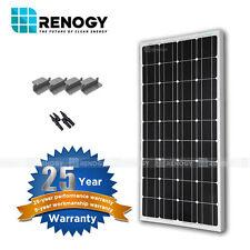 Renogy 100W 12V Monocrystalline Solar Panel Expansion Kit for RV Boat Off Grid
