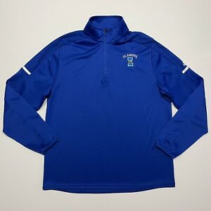 Adidas Golf Climalite Blue Pullover Jacket 1/4 Zip Mens Medium Corpus Islanders