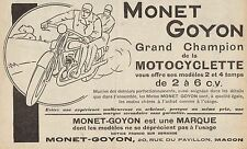 Y8046 MONET & GOYON Grand Champion de la Moto - Pubblicità d'epoca - 1929 Ad