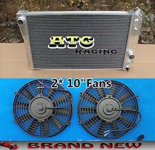"""3 CORE ALUMINUM RADIATOR & 2* 10"""" FANS FOR 1982-2002 CHEVROLET S10/S-10 V8"""