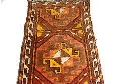 antik Orient Uzbek Nomaden zelttasche Teppich mafrash tent bag fragment No-4