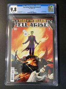 YEAR OF THE VILLAIN : HELL ARISEN # 3 1st Print CGC 9.8 First Punchline