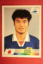 PANINI WC WM FRANCE 98 1998 N. 522 JAPAN OMURA WITH BLACK BACK MINT!!