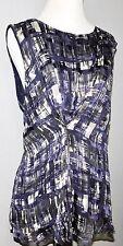 Women's purple sleeveless blouse XL Classiques Entier (Nordstrom) silk blend