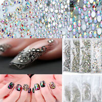 1440pcs 3D Nail Art Rhinestones Glitter Crystal Tips Decoration Manicure Beads