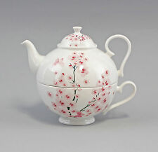 Porcelain Tea Set Tea for one Set Cherry blossom Jameson&Tailor 9952340