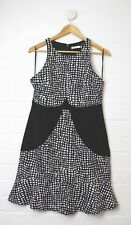 COOPER STREET Black & White Patterned Dress Size 12 NEW without Tags