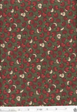 Apple Cider Red Delicious Apples with Green Backgrnd - NEW Quilt Fabric - 1 Yard