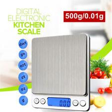LCD Digital Electrónica Balanza de Cocina Alimentos Balanzas joyería 0.01g-500g
