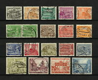 (YYAT 0204) Berlin 1949 USED Mi 42 - 60 Sc 9N42 - 9N60 Germany (without 30pf)