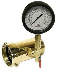 "2-12"" NST In-line Swivel Hydrant Flow Test Piezo Pitot Gauge 100 PSI 1680 GPM"