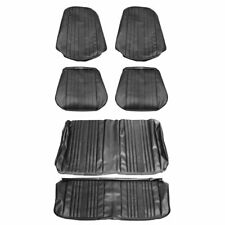 1969 Chevelle Coupe Bucket Front & Rear Seat Covers Black Distinctive Industries
