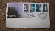2002 LIGHTHOUSES OF AUSTRALIAN FDC, 4 STAMPS, LIGHTHOUSE PM PT LONSDALE