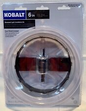 KOBALT RECESSED LIGHT INSTALLATION KIT 6 INCH DUST SHIELD INCLUDED & HOLE SAW