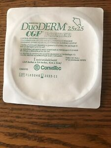 """Convatec DuoDERM CGF Sterile Dressing with Border (2.5""""x2.5"""") Lot of 10"""