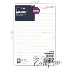 Filofax 2020 Deskfax size Diary - Week On Two Pages Insert 20-68612