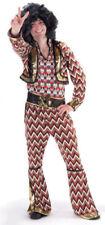 Costumi e travestimenti vestiti multicolori per carnevale e teatro da uomo Tema Anni '70