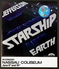 JEFFERSON STARSHIP AIRPLAINE ORIGINAL EARTH TOUR POSTER NASSAU COLISEUM 1978