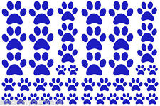 NAVY BLUE PAW PRINTS-2 sheets total 44 pieces VINYL WALL DECAL STICKER DOG CAT
