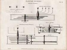 1820 ~ stampa Georgiano macchine PLANETARIA ~ Satellite macchine Roemer jovilabe