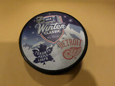 2014 WINTER CLASSIC COMMEMORATIVE PUCK  RED WINGS / MAPLE LEAFS RARE!