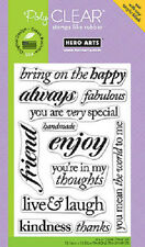 HERO ARTS RUBBER STAMPS CLEAR LIVE AND LAUGH STAMP SET