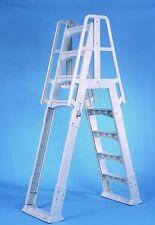 VinylWorks Slide Lock SLA001-W A-Frame Above Ground Pool Ladder (White)