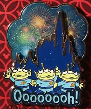 Disney 2016 Toy Story Fireworks Over Castle Little Green Men oooooh! Pin NOC