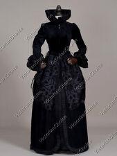 Black Renaissance Witch Queen Velvet Game of Thrones Halloween Dress 331 Xxl