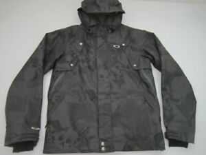 Mens Small Oakley Regular Fit Skull snowboarding gray jacket 09'