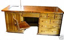 Rare Antique Industrial E. H. Sheldon Oak Desk Laboratory Chemistry Winery Table