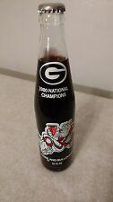 1980 Georgia Bulldog National Championship Commemorative10oz Coke Bottle