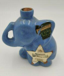 CHATEAU ROSARD Blue Miniature Elephant Burgundy Wine Jug  Cork Tax Stamp