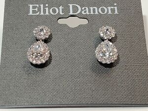 Eliot Danori Earrings $50 Silver Tone New Over Stock With Tags