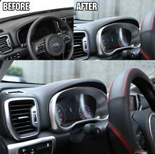 FIT FOR 2017- KIA SPORTAGE  INSTRUMENT PANEL TRIM NAVI DASH FRAME COVER MOLDING
