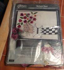 New listing Harlequin Floral Paragon Needle Craft Crewel Stitchery Kit Vintage #0559 Vintag
