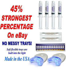 45% HOME Teeth Tooth Whitening Whitener KIT Dental Gel Bleaching + White Light