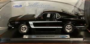 1969 FORD Mustang BLACK BOSS 302  1:18 SCALE