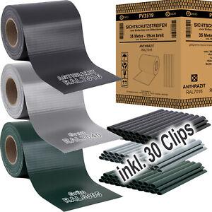 PVC Sichtschutz Rolle Streifen Doppelstabmatten Zaun Folie Zaunblende REXOO® 35m